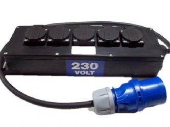 32amp 230v plug to 5off 13amp sockets outlets